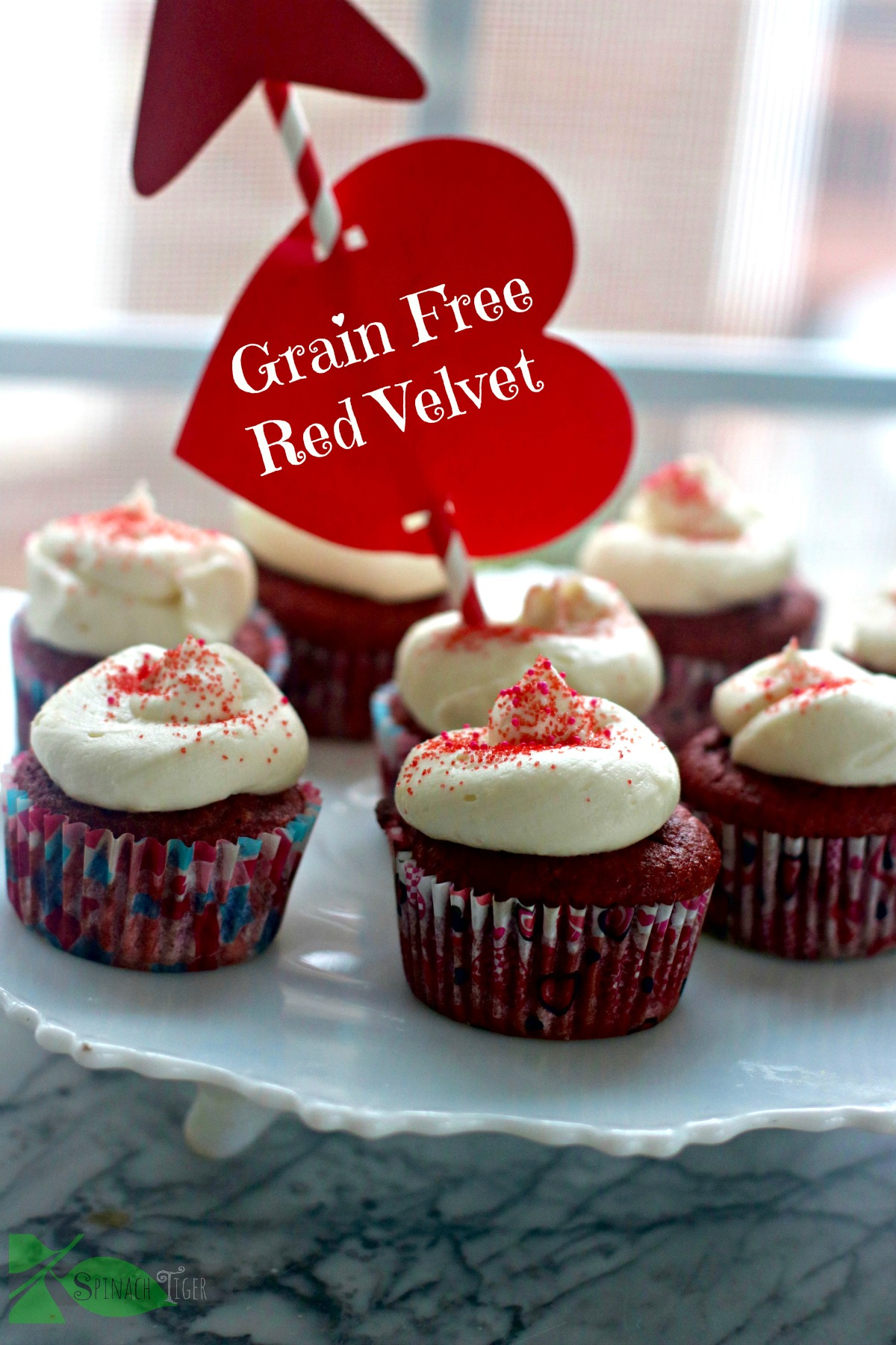 Grain Free Sugar Red Velvet Cupcakes From Spinach Tiger