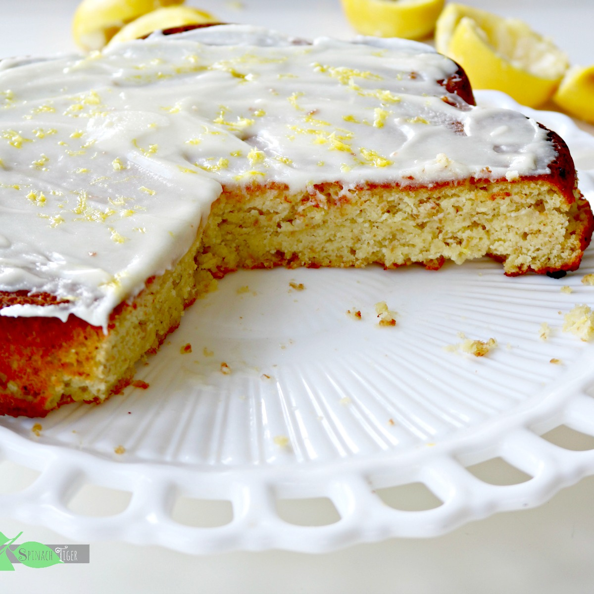 Grain Free Lemon Cake and Holiday Side Dishes from Spinach Tiger