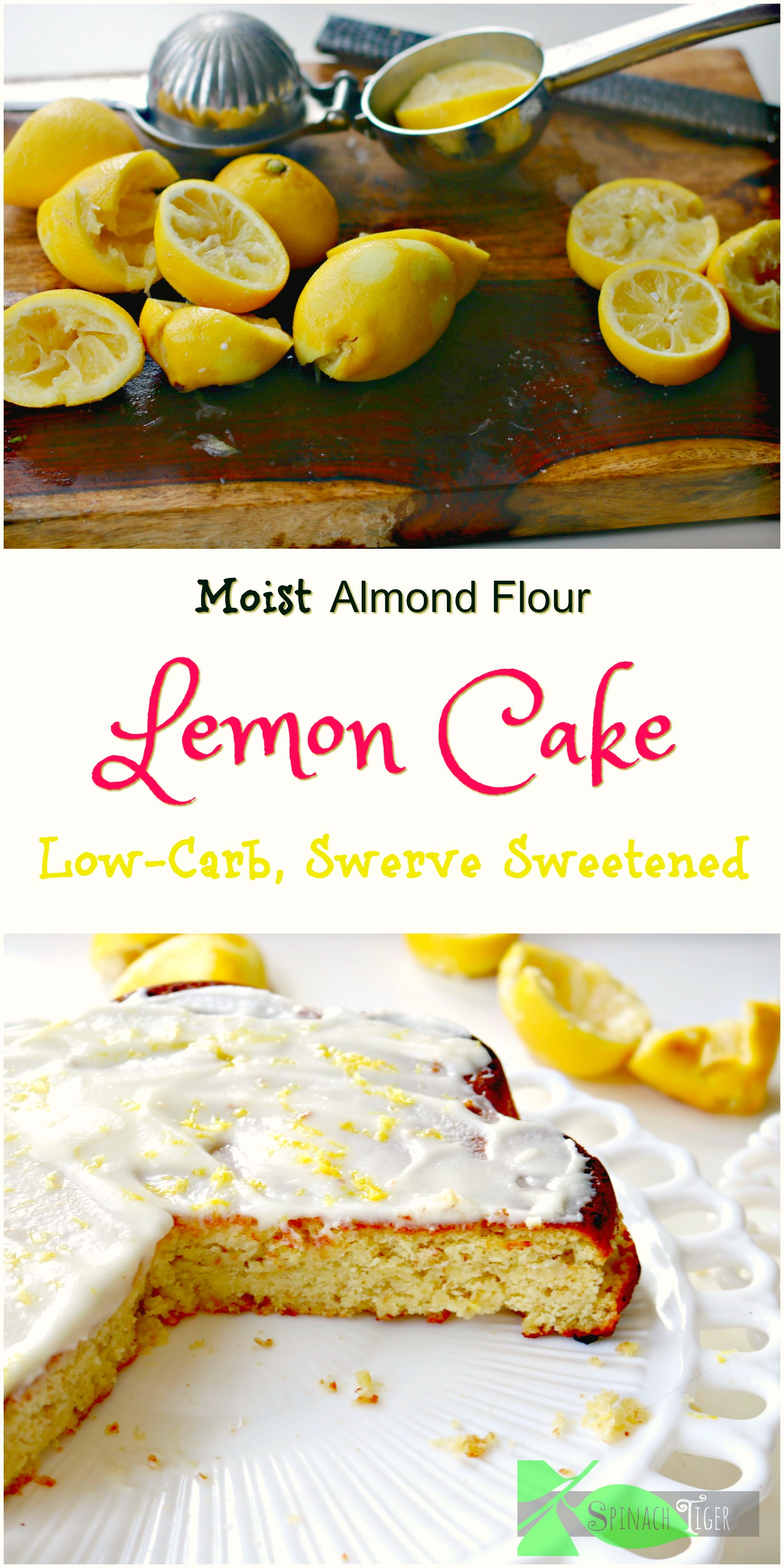 Best Moist lemon cake, keto, low carb, paleo from spinach tiger