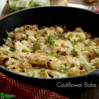 Buttery Oven Roasted Cauliflower Recipe with Parmigiano Reggiano