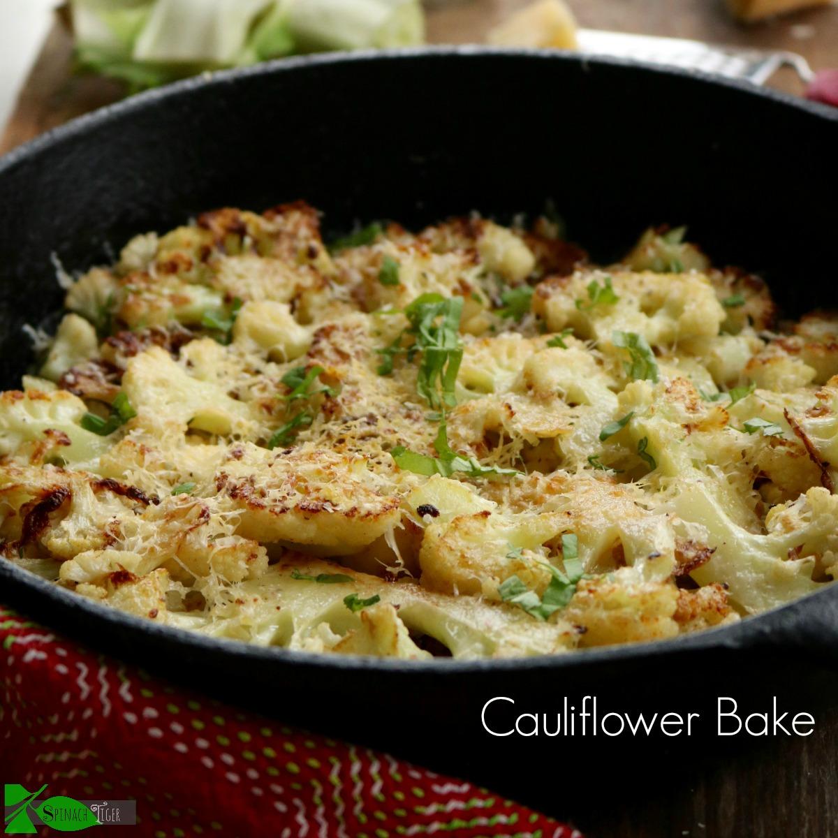 cauliflower bake with parmigiano reggiano