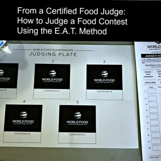 How to Officially Judge Food Competitions at the World Food Championships with EAT Method