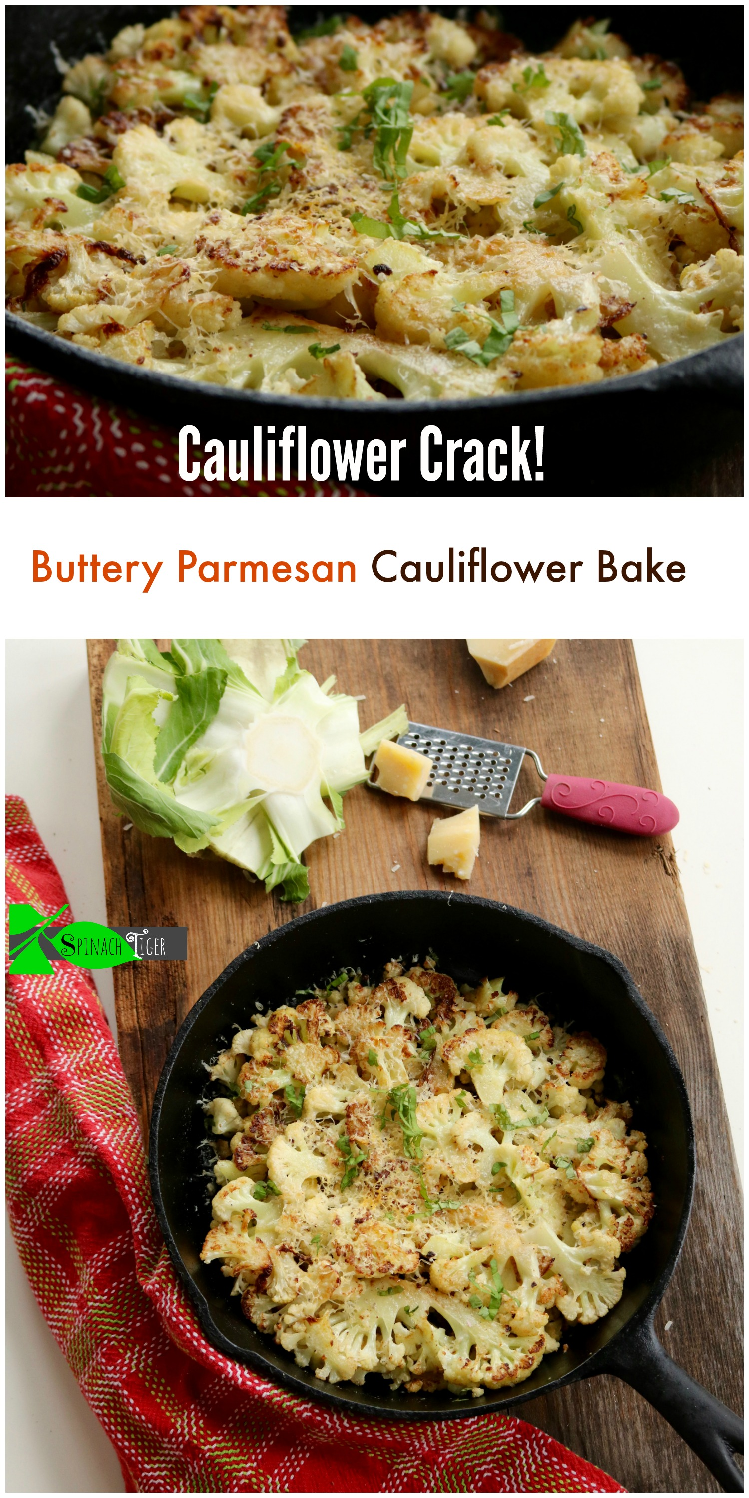 How to Make Buttery Parmesan Oven Roasted Cauliflower Recipe from Spinach Tiger