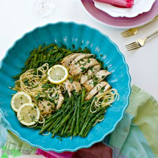 Healthy Asparagus Chicken Pasta Recipe, with Lemon, Gluten Free Option