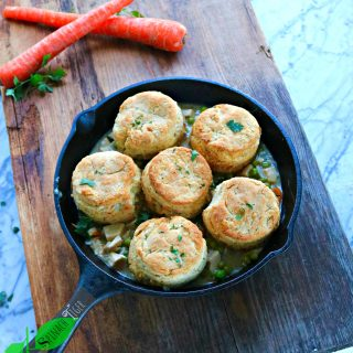 Chicken Pot Pie with Biscuits, Gluten Free