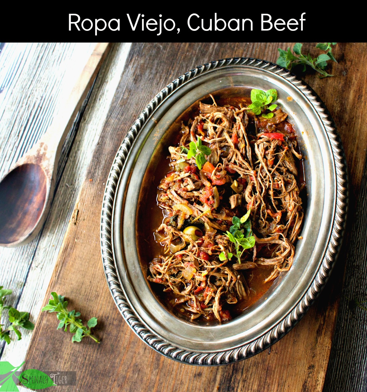 How to Make Ropa Viejo, Cuban Shredded Beef from Spinach Tiger
