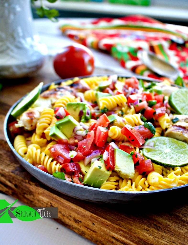 Mexican Pasta - Low Carb Mexican Recipes from Spinach Tiger
