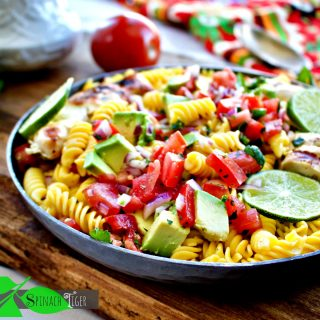 Mexican Chicken Pasta with Avocado