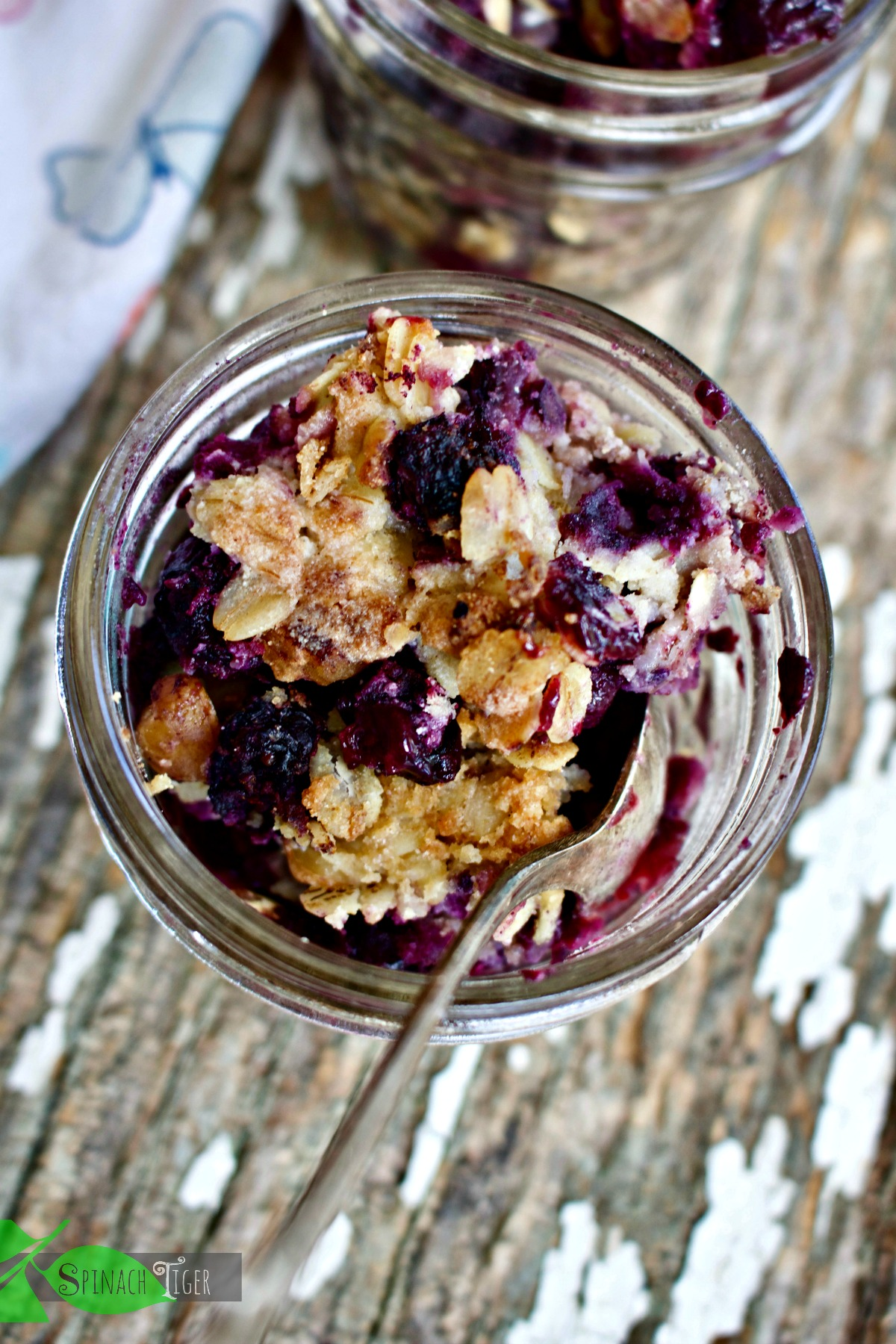 How to Make Blueberry Crisp Recipe,  Gluten Free from Spinach Tiger