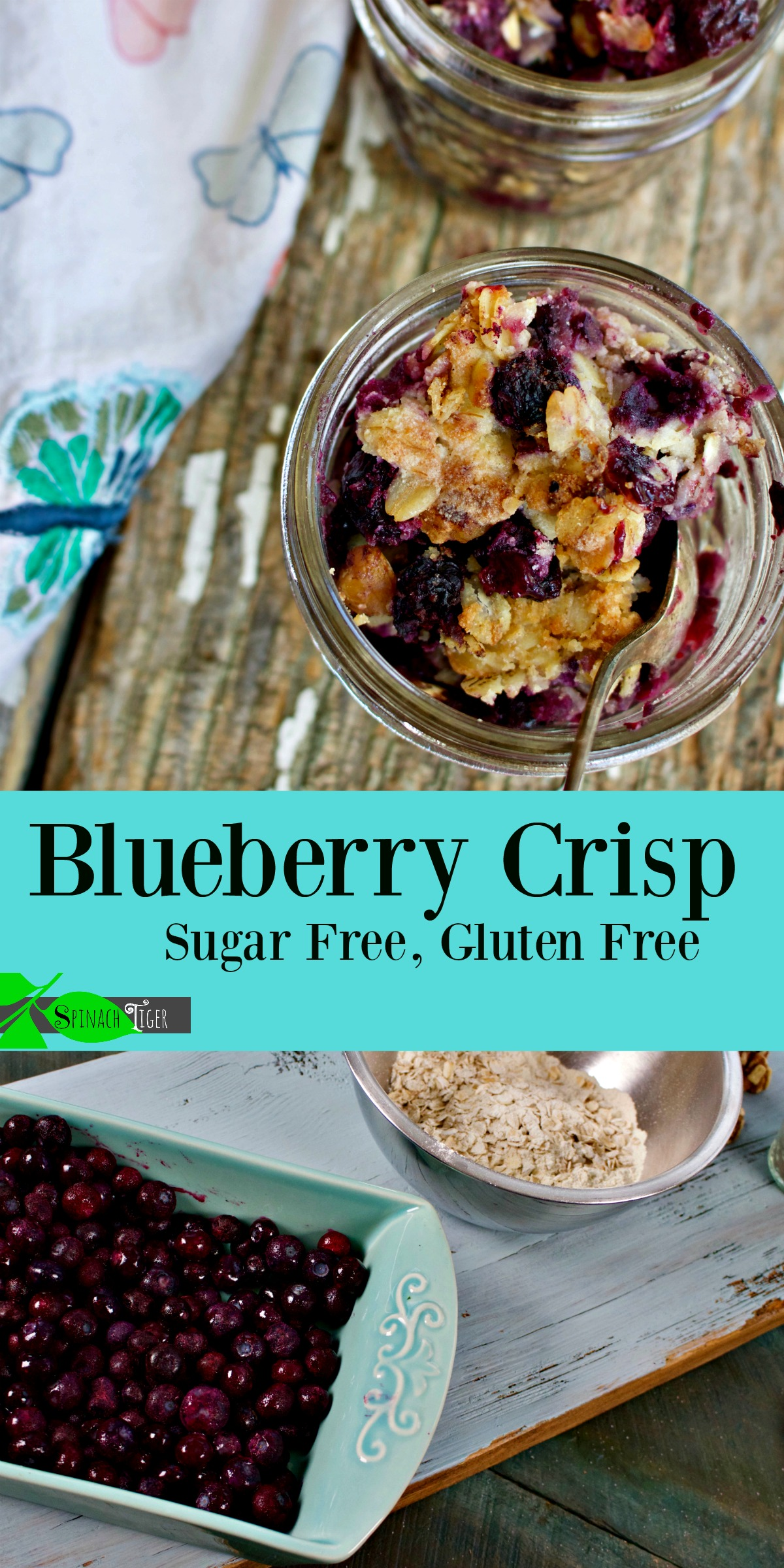 How to Make Easy Blueberry Crisp Recipe, gluten free from Spinach Tiger