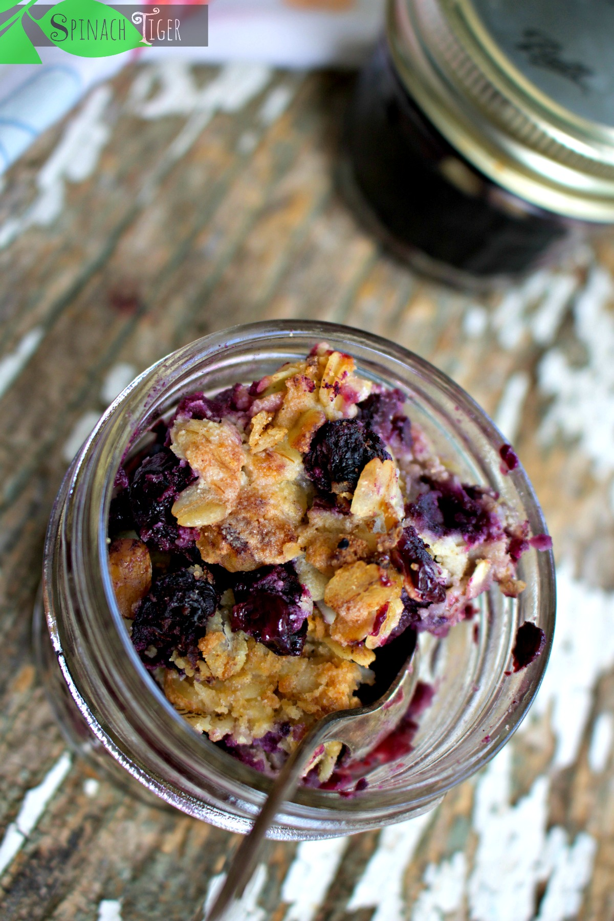 Blueberry Crisp Recipe. Easy and Gluten Free from Spinach Tiger