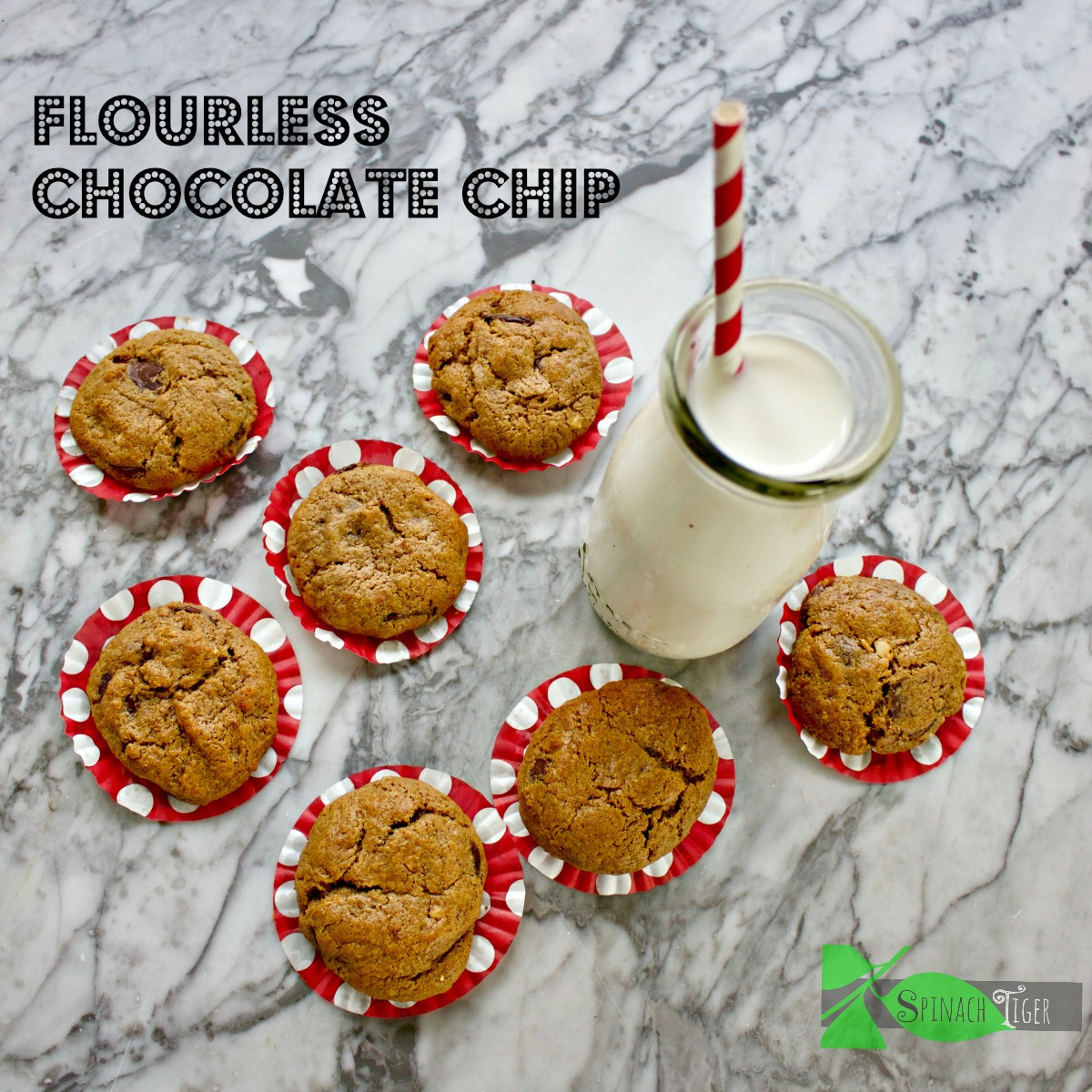 Easy Paleo Chocolate Chip Cookies with Almond Butter from Spinach Tiger