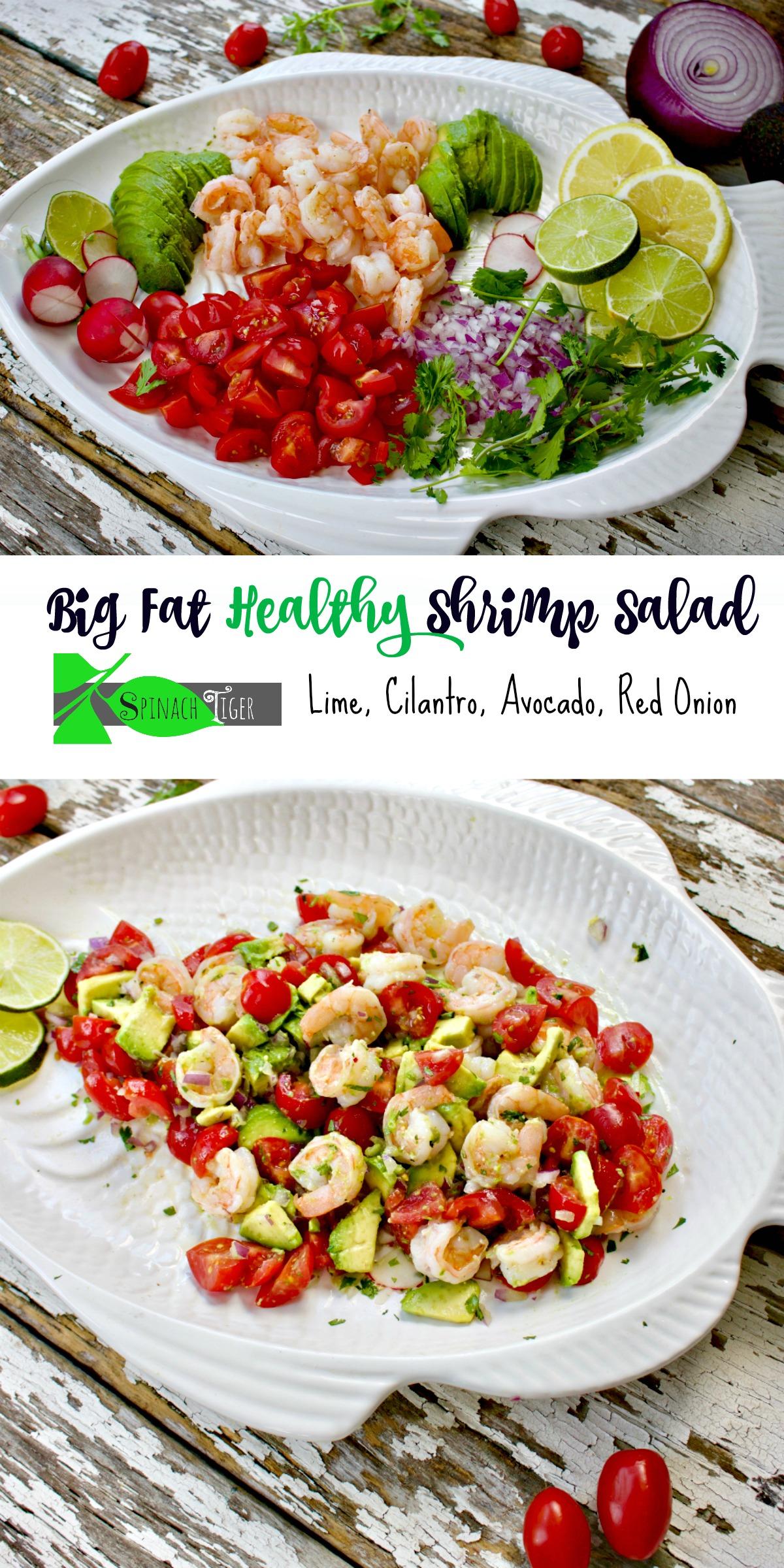 Best Shrimp Avocado Salad Recipe from Spinach Tiger