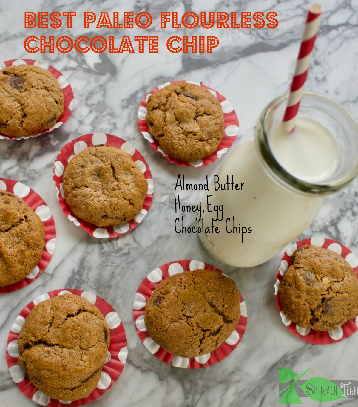 Paleo Chocolate Chip Cookies Made with Almond Butter - Spinach Tiger