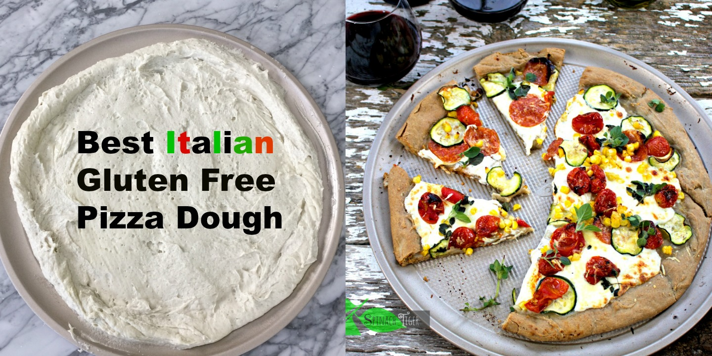 Gluten Free PIzza Crust Recipe from Spinach TIger