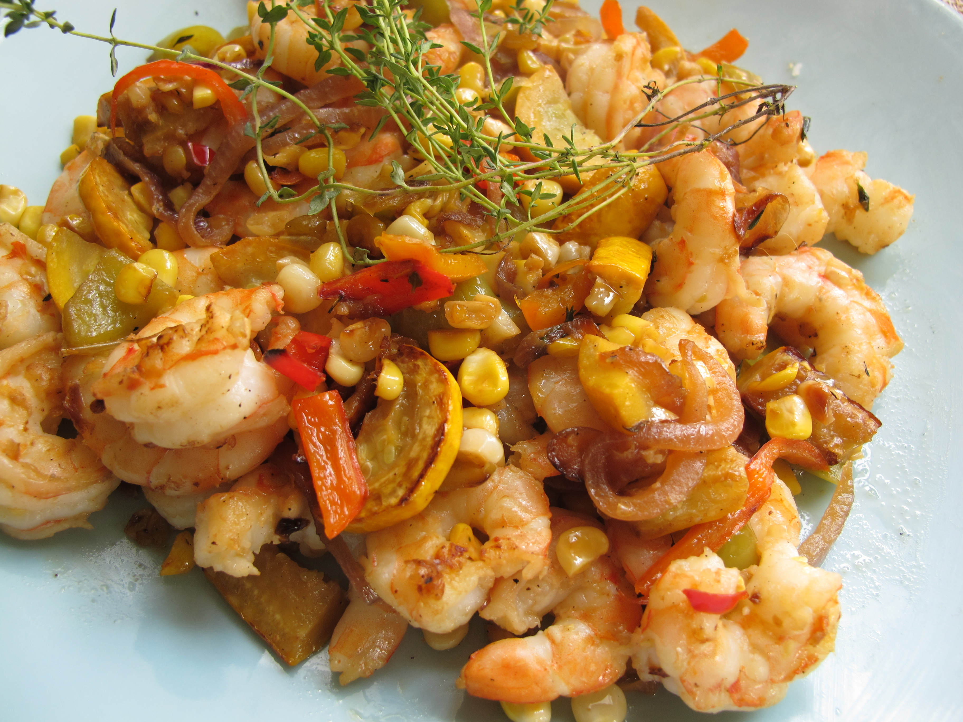 Big Fat Healthy Shrimp Recipes with corn from Spinach Tiger