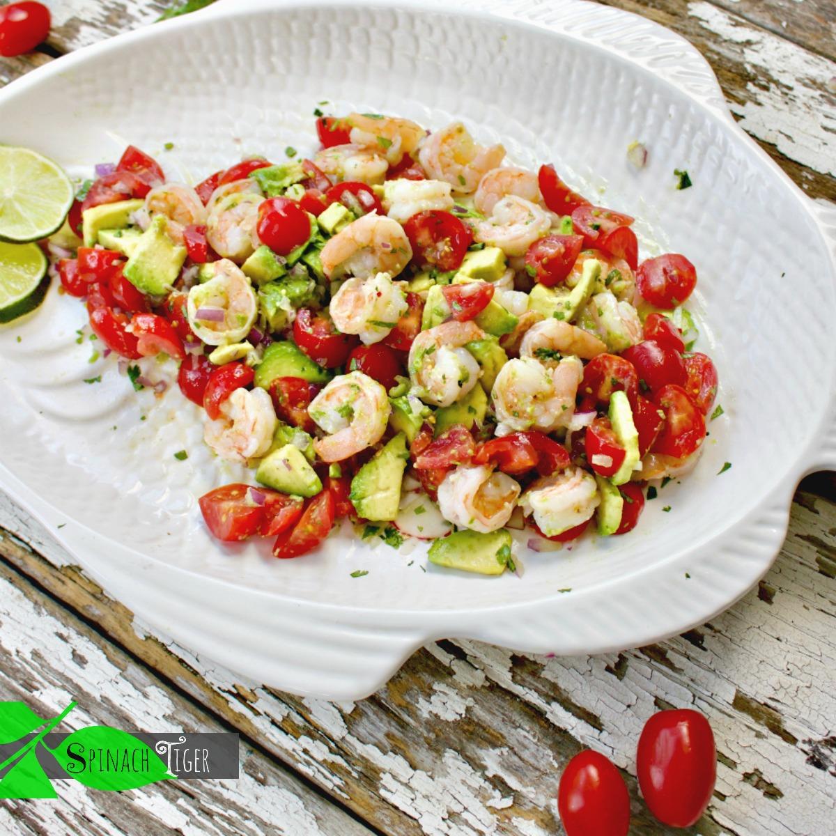 Shrimp Avocado Salad Recipe from Spinach Tiger