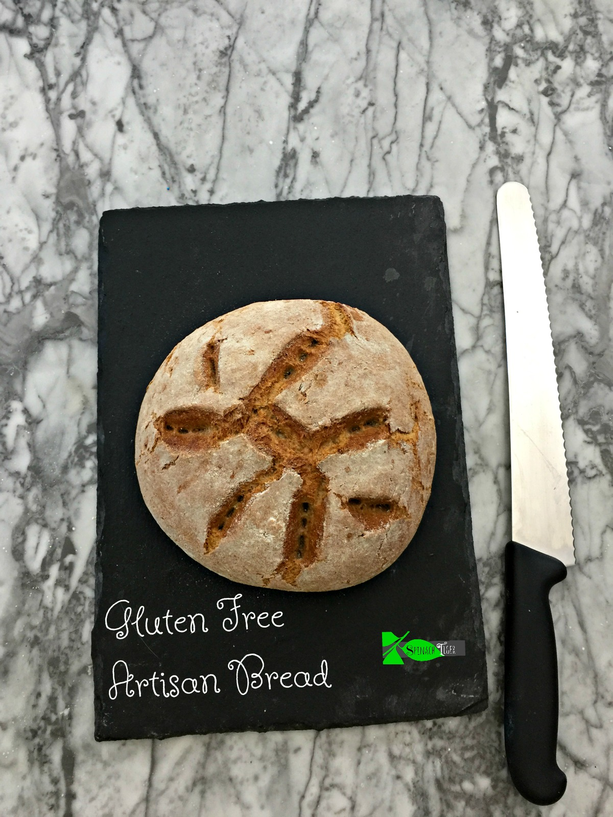 Gluten Free Whole Grain Bread with Video from Spinach tiger