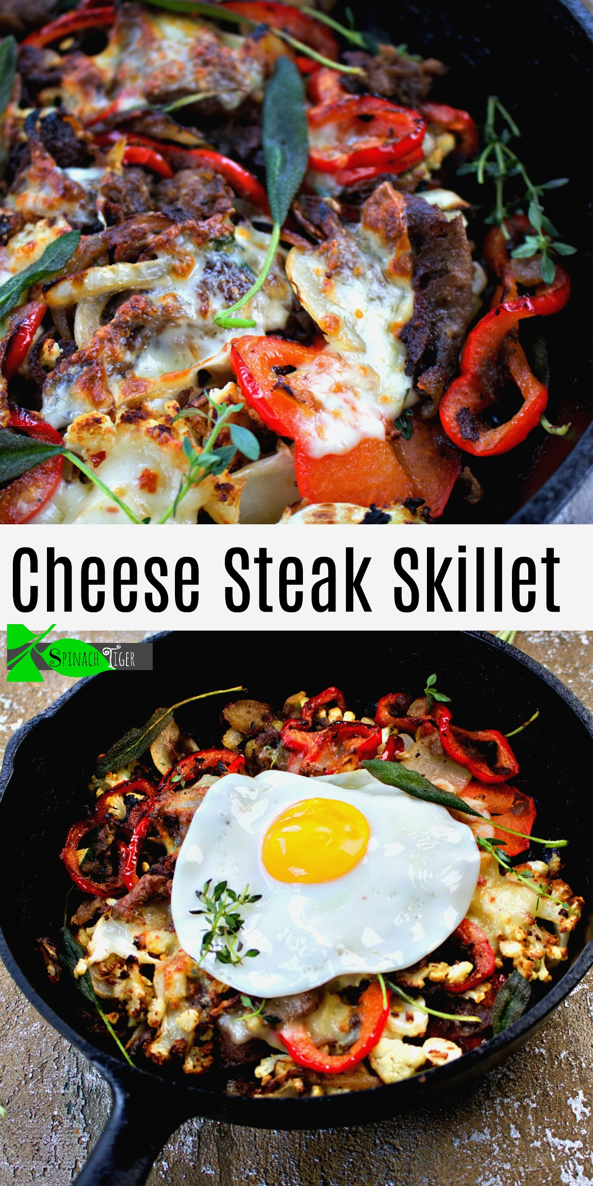 How to Make Cheese Steak Skillet from Spinach Tiger