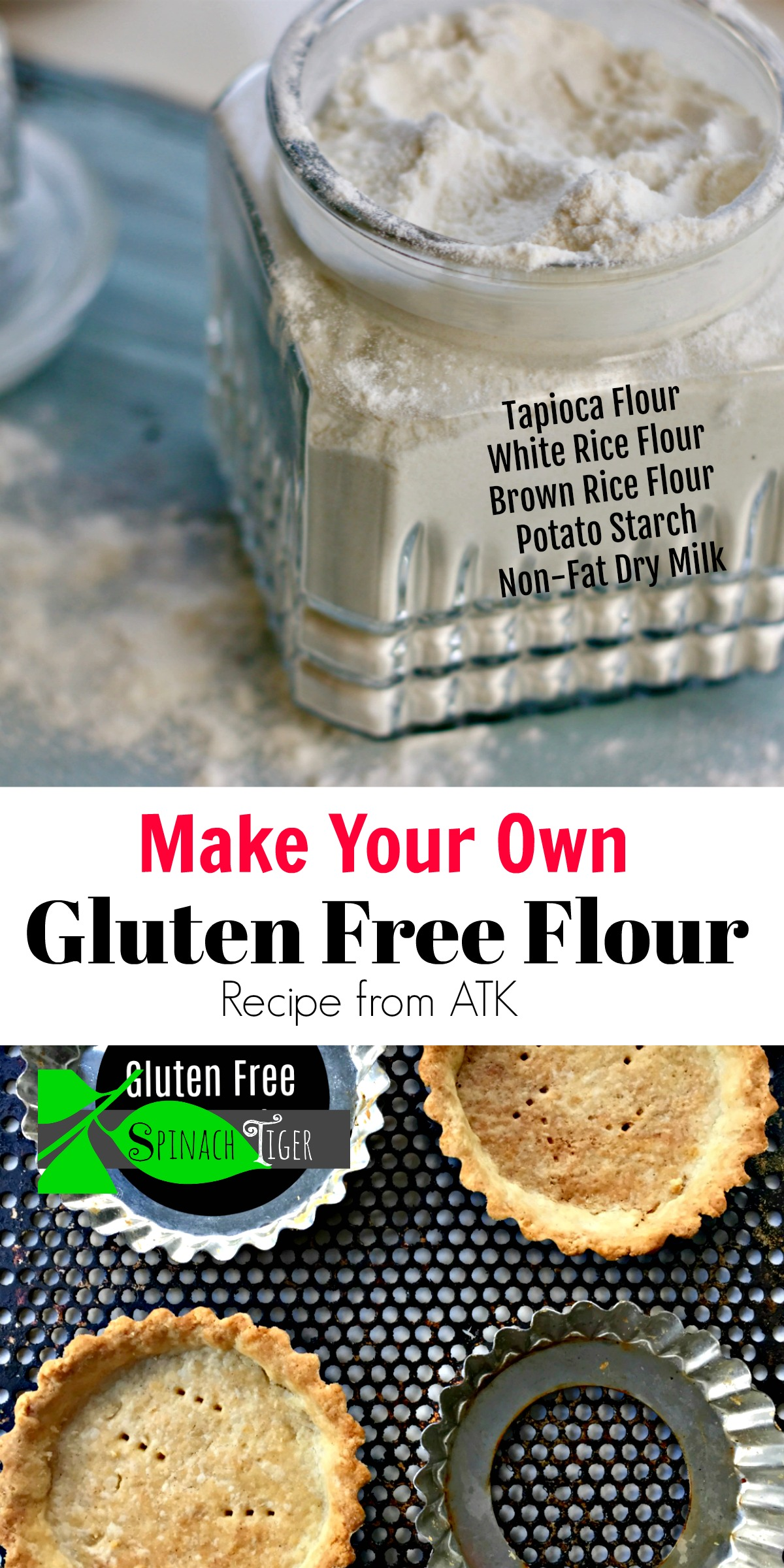 How to Make Gluten Free Flour from Scratch by Spinach Tiger