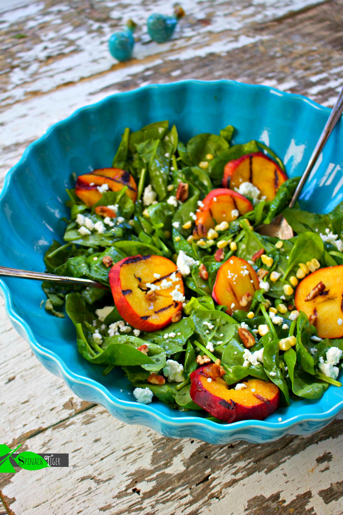 How to Make Peach Vinaigrette for Peach Spinach Salad from Spinach Tiger