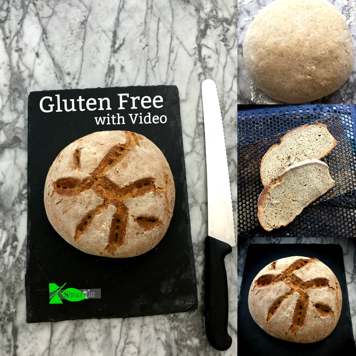 Artisan Bread: Gluten Free Whole Grain Bread from Spinach Tiger