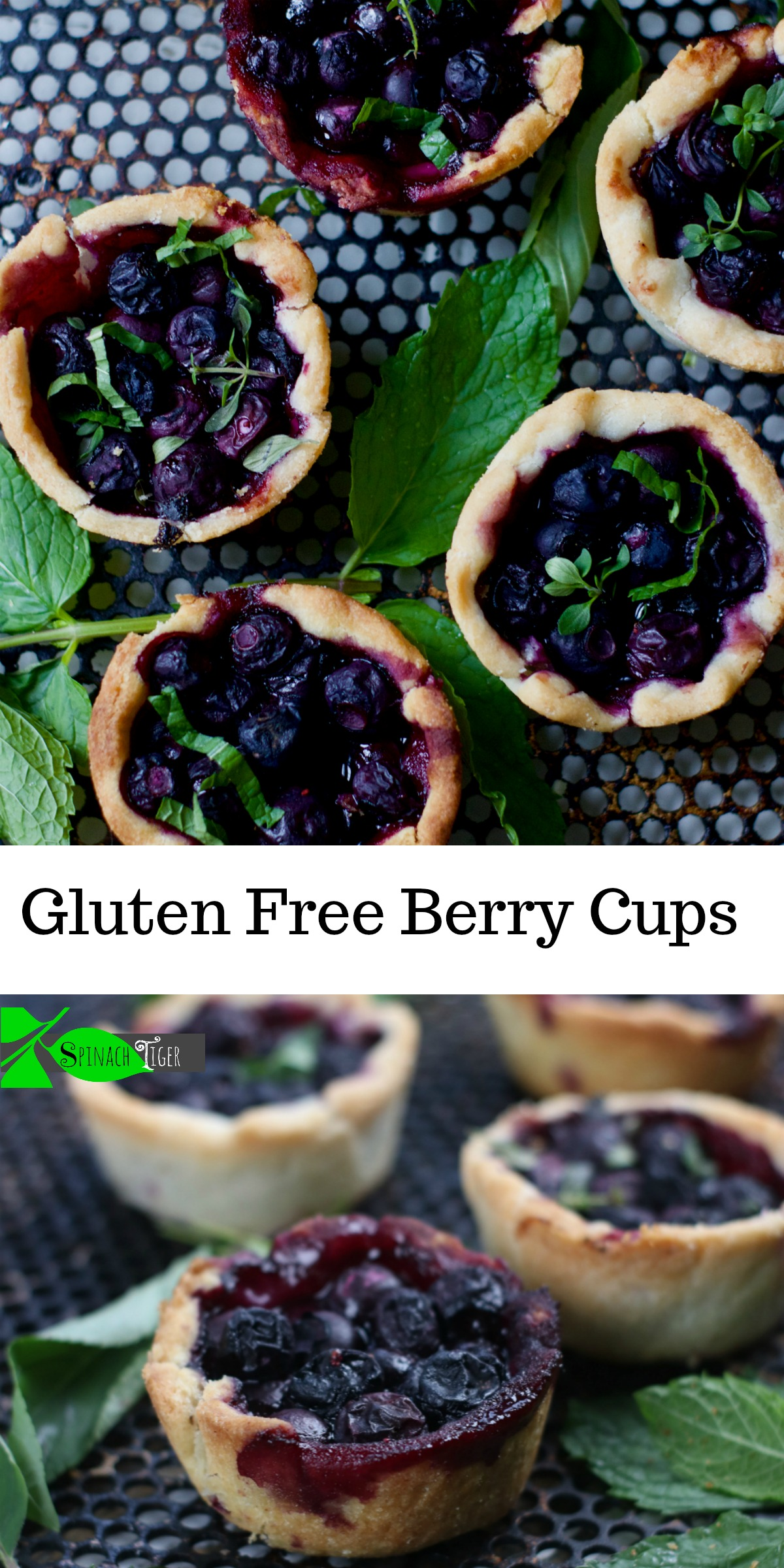 Blueberry Mini Pie Recipes 2 from Spinach Tiger