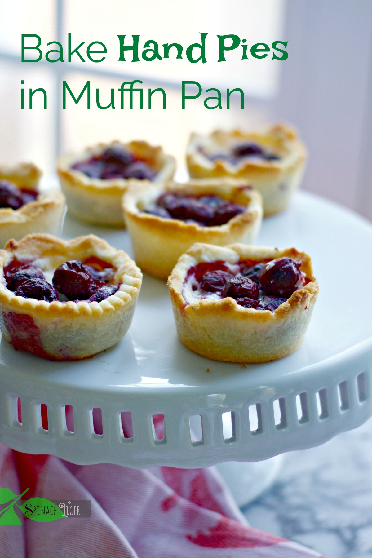 Cherry Mascarpone Mini Pie Recipes from Spinach Tiger