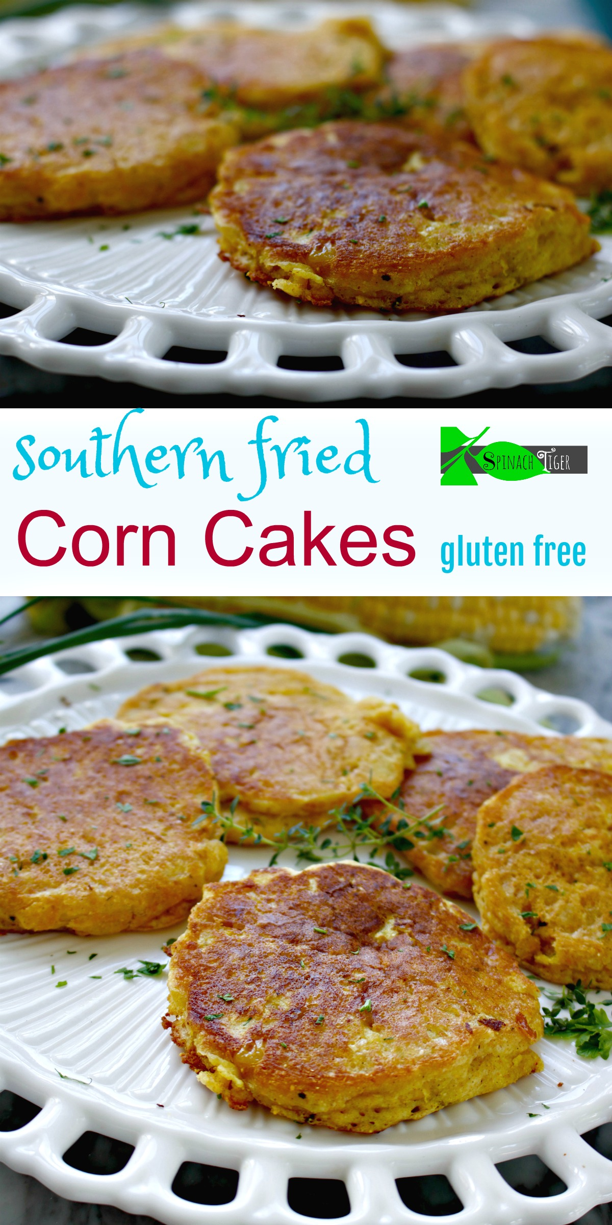 Southern Fried Corn Cakes Recipe from Spinach Tiger