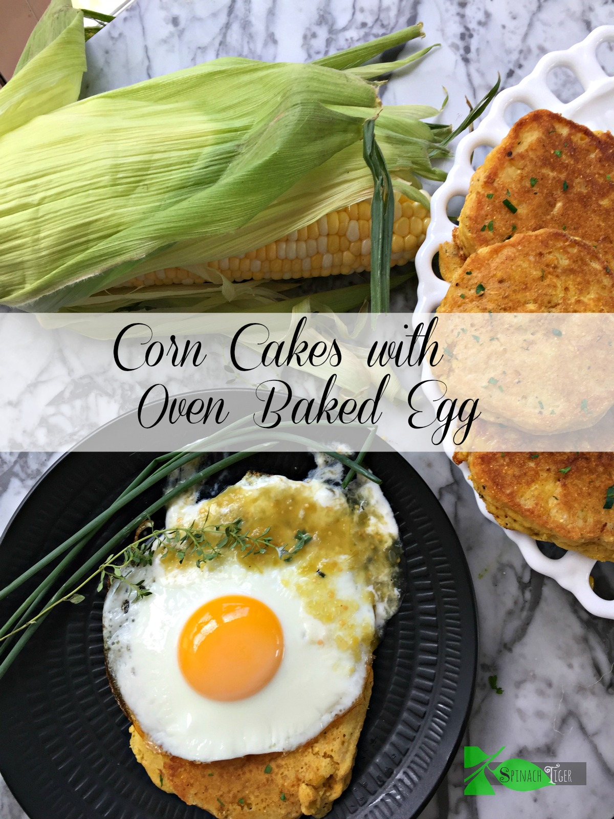 Southern Fried Corn Cakes Recipe, Oven Baked Egg from Spinach TIger