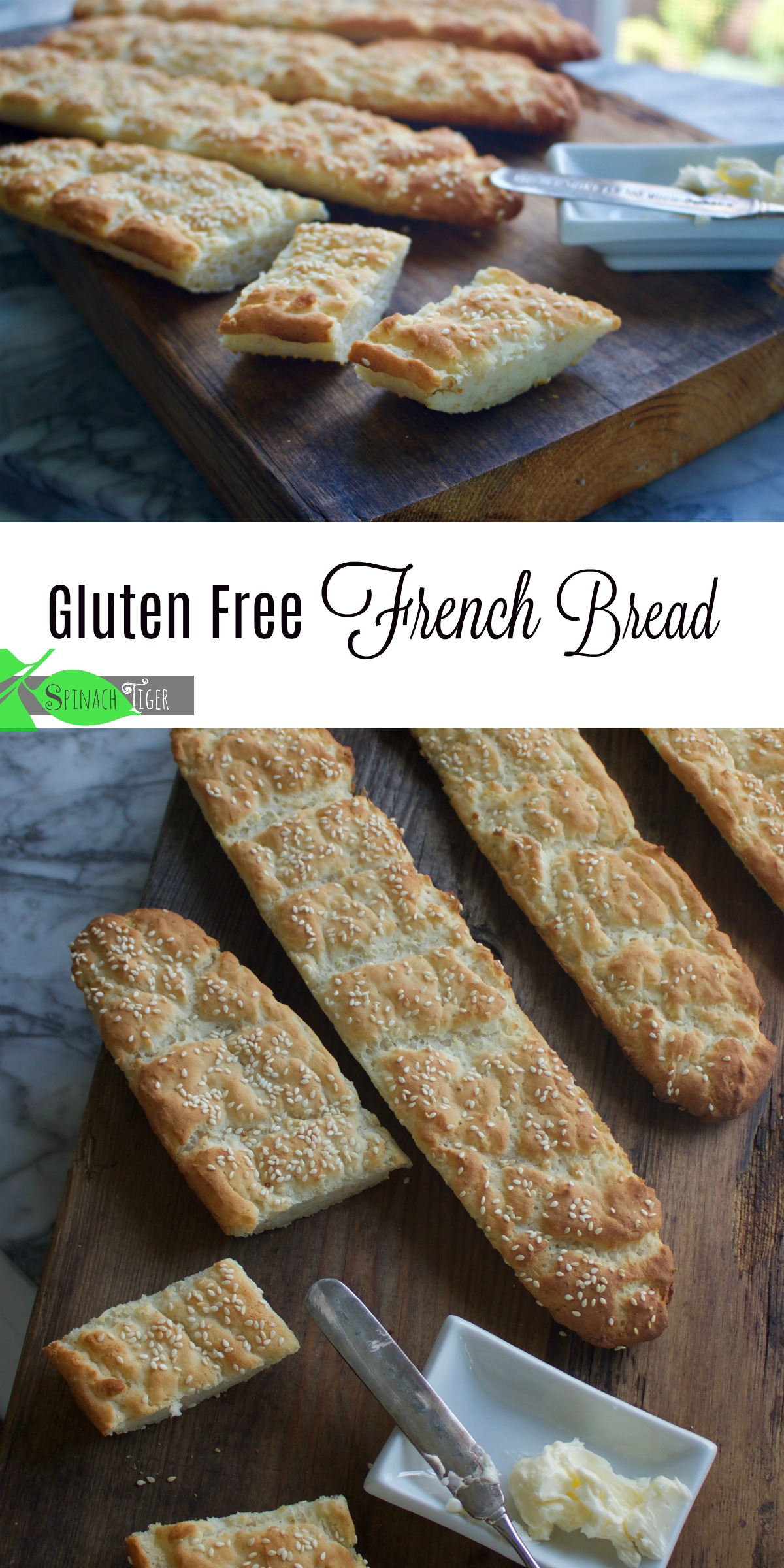Gluten Free French Bread from Spinach Tiger