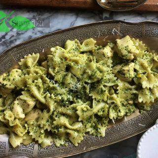 Italian Chicken Pasta Recipe with Creamy Pistachio Pesto