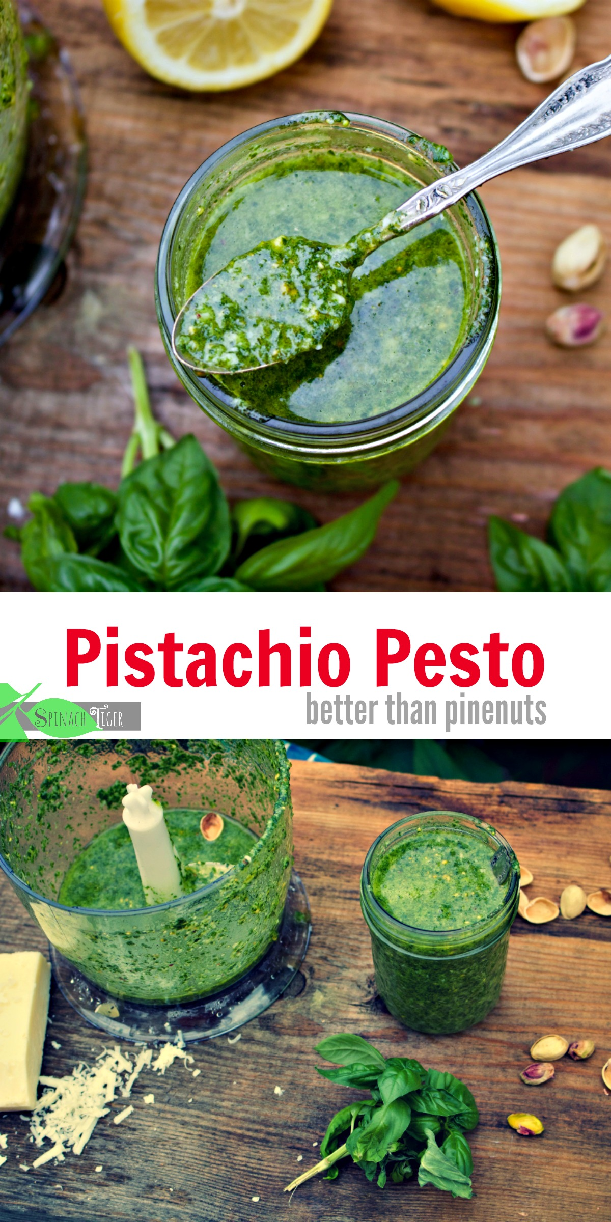 How to Make Pistachio Pesto from Spinach Tiger