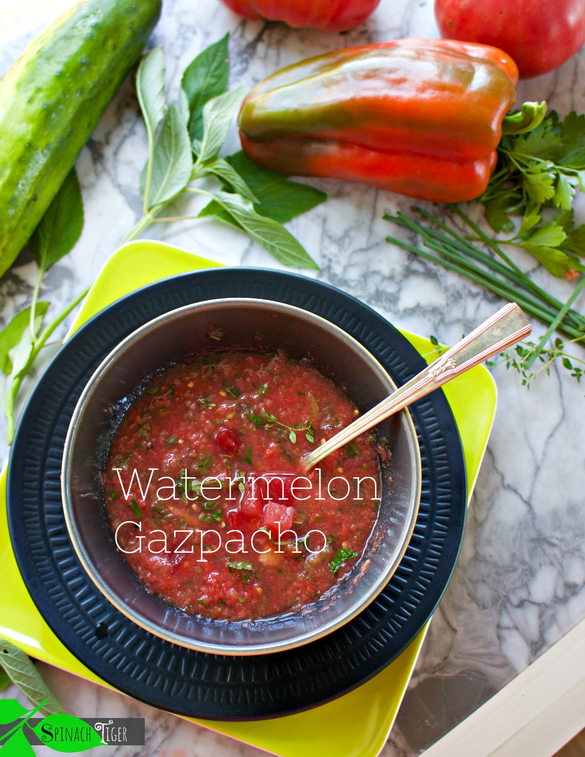 How to Make Watermelon Gazpacho from Spinach Tiger