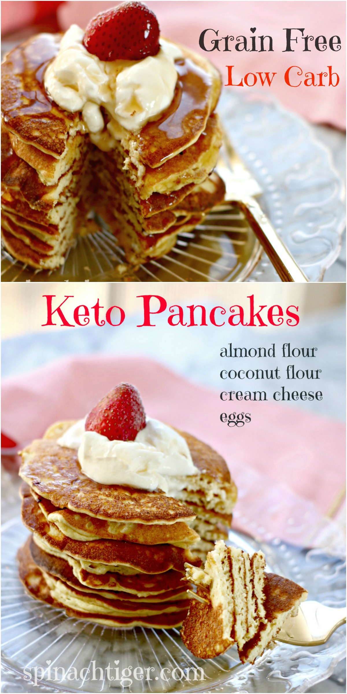 How to make fluffy pancakes grain free low carb keto spinach tiger one thing i like to do is mixed whipped cream with sour cream and add some erythritol sweetener ccuart Choice Image