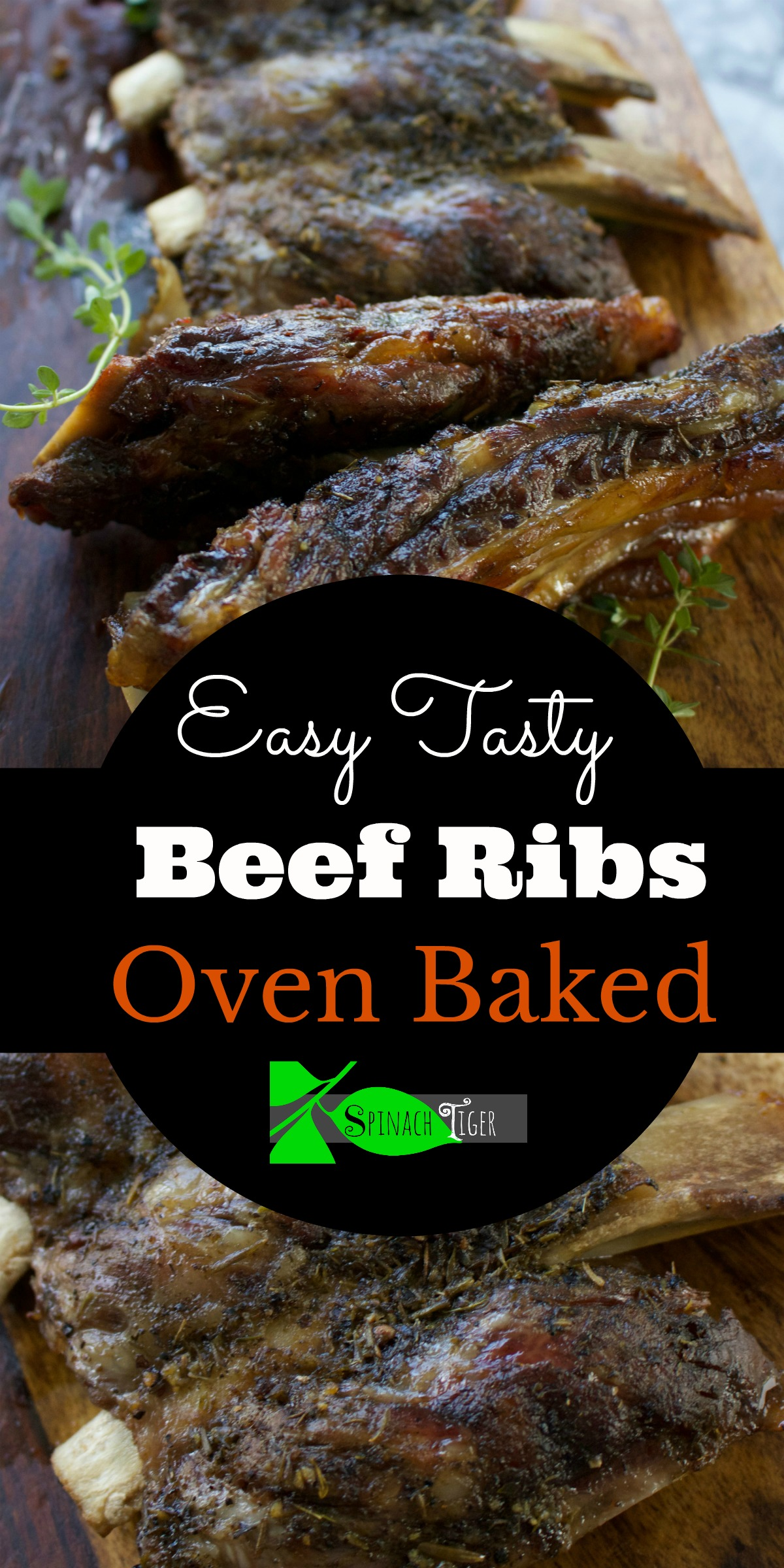 Oven Baked Beef Ribs from Spinach Tiger #beefribs