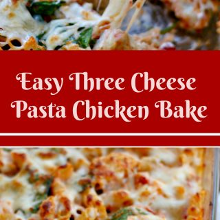 Three Cheese Pasta Chicken Bake with Our Favorite Gluten Free Pasta