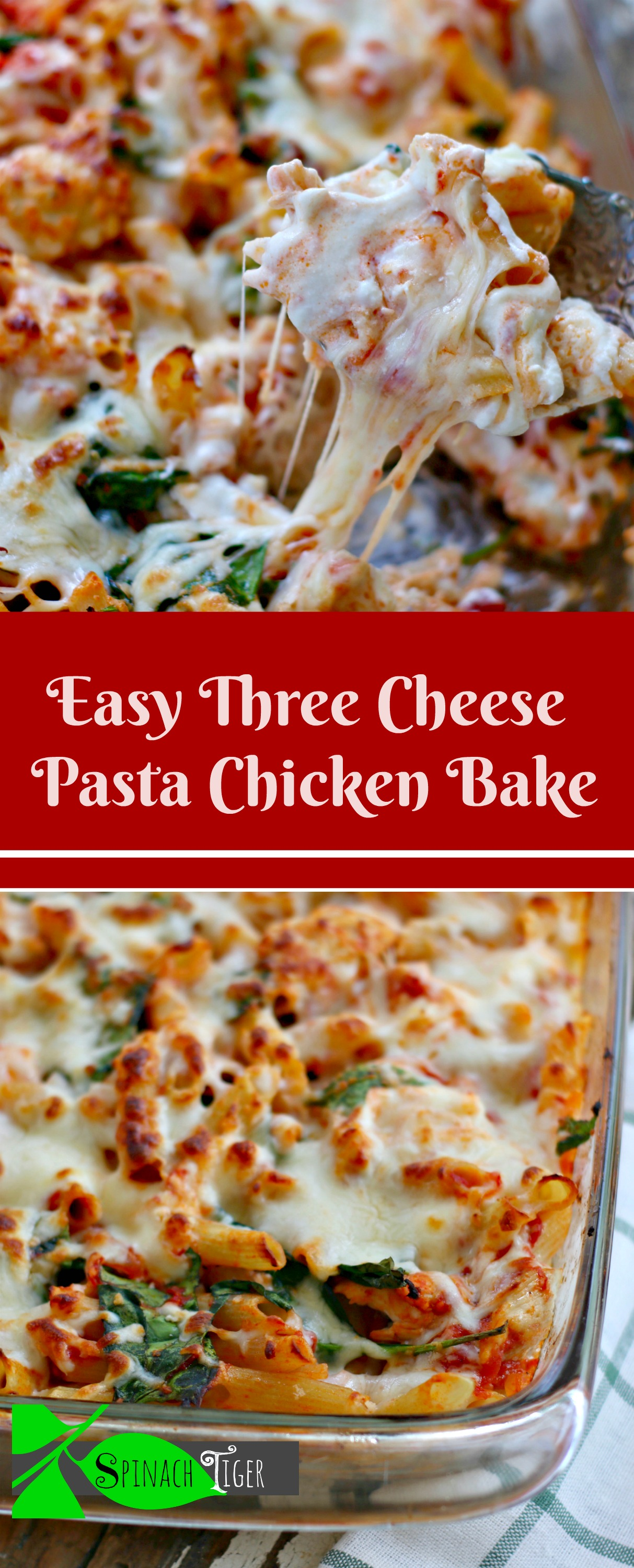 Easy Pasta Chicken Bake Gluten Free Pasta from Spinach tiger