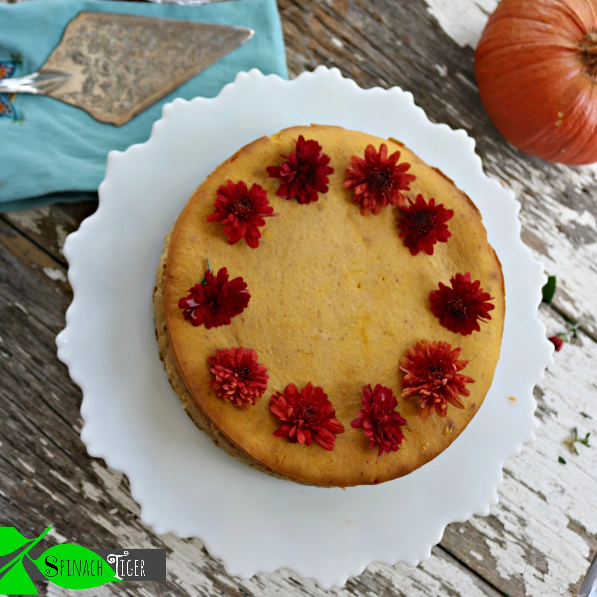 Pumpkin Low Carb Cheesecake Recipe from Spinach Tiger