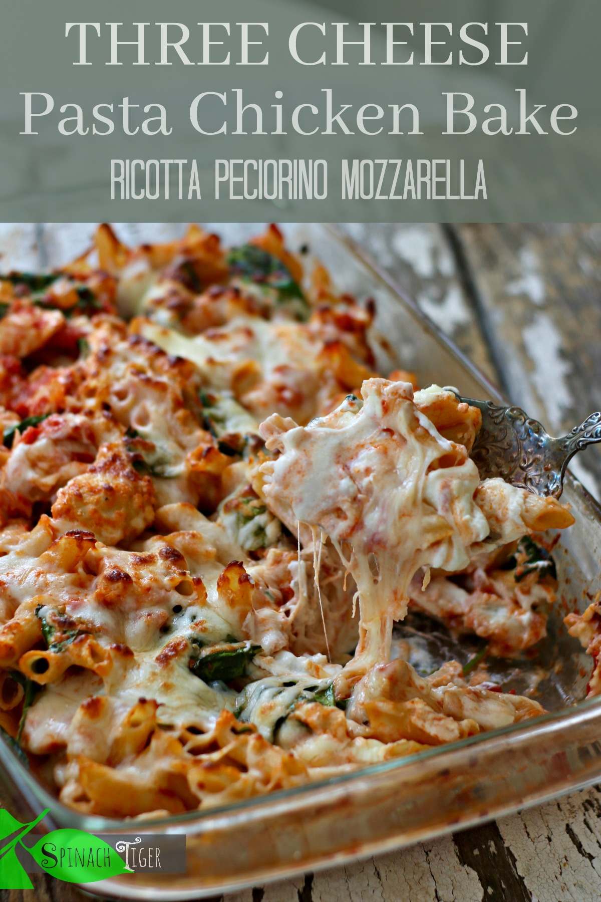 Healthy Chicken Pasta Recipes Casserole from Spinach Tiger