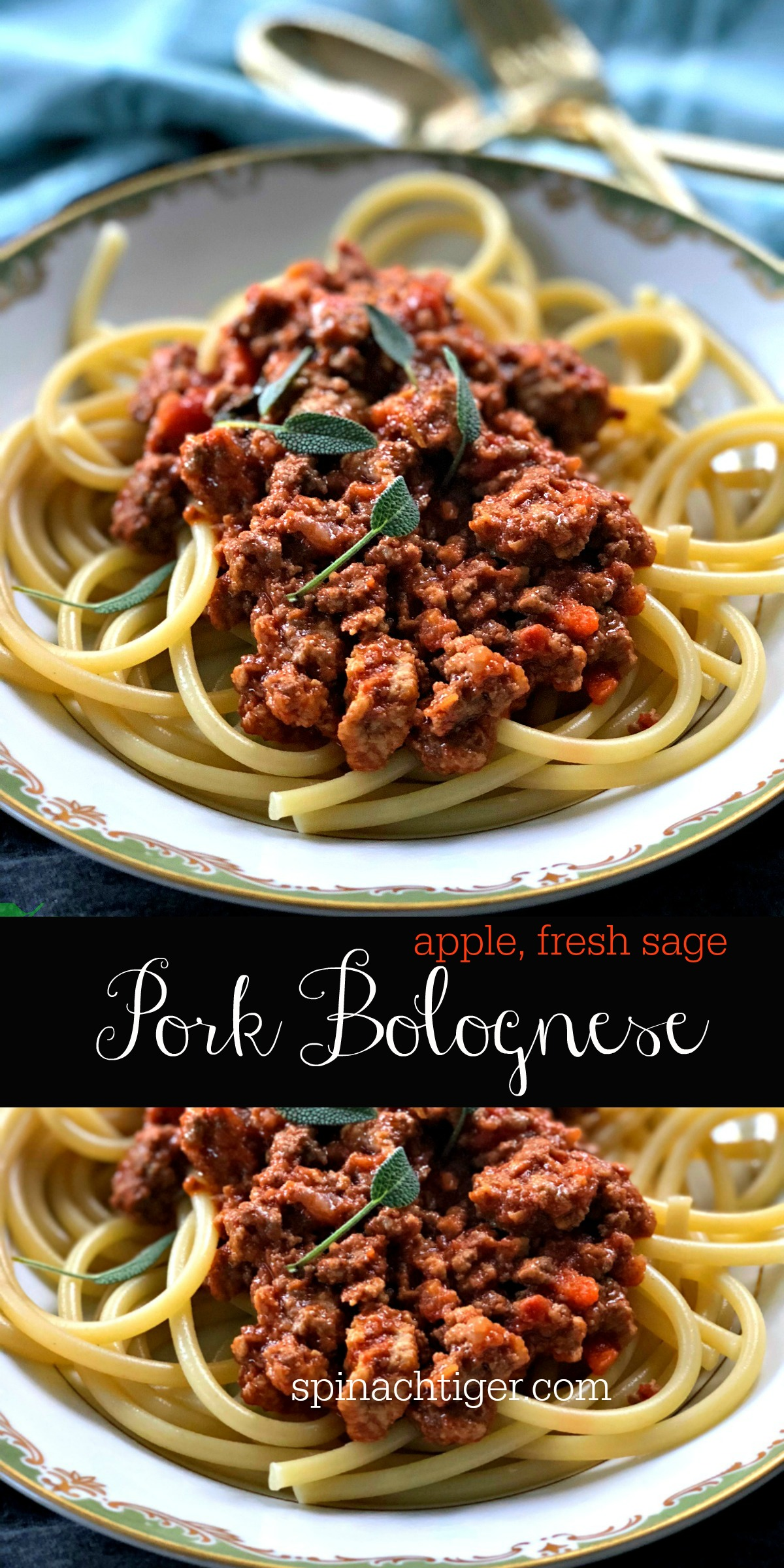 Easy Spaghetti Bolognese Recipe from Spinach Tiger