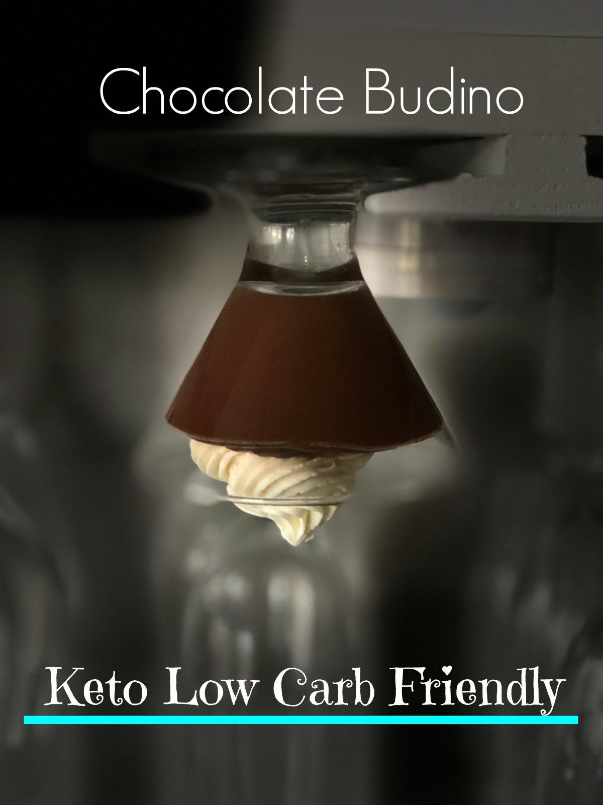 Keto Low Carb Sugar Free Chocolate Budino Recipe from Spinach Tiger