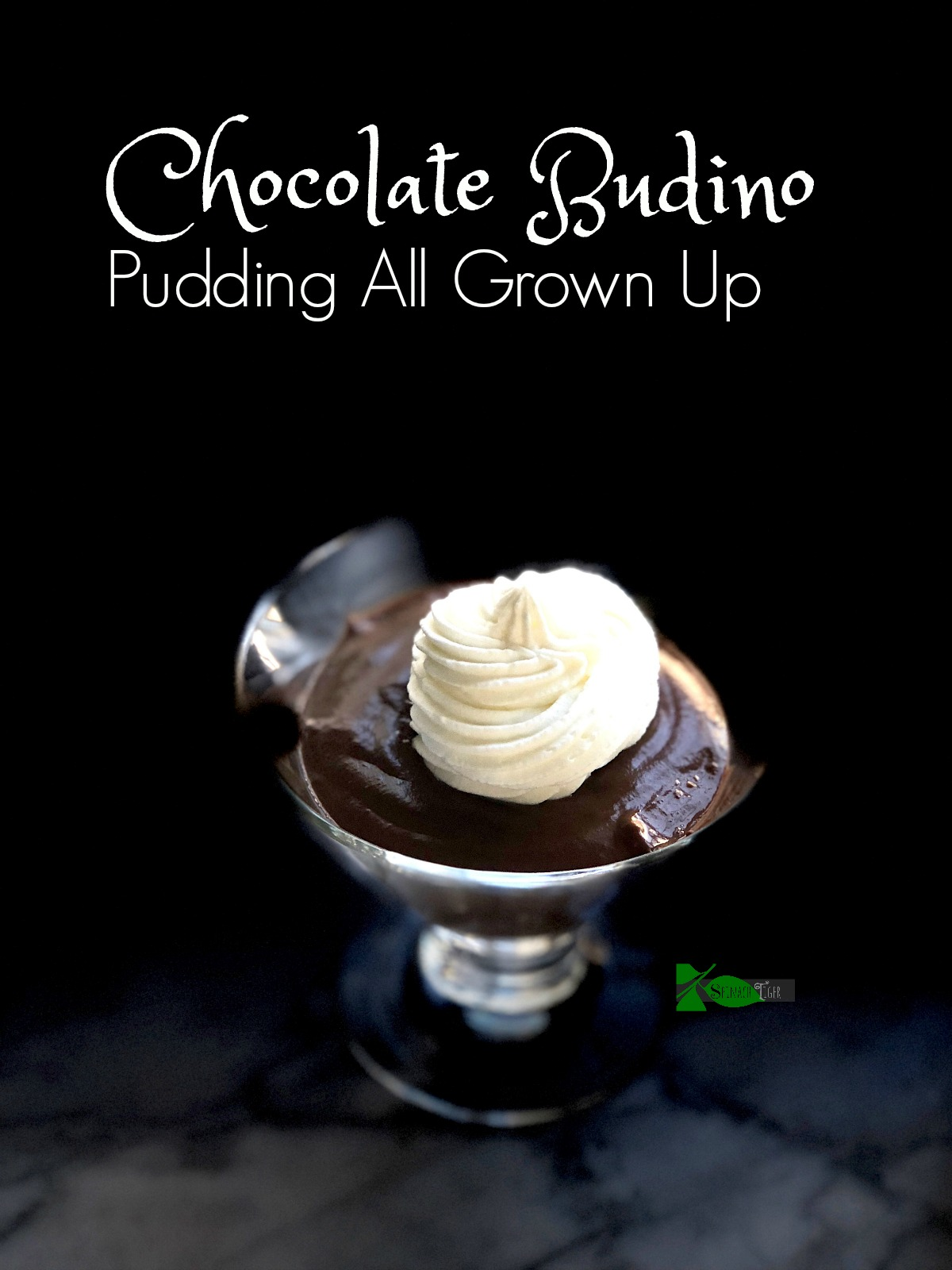 Chocolate Budino with Stabilized Whipped Cream Icing Recipe from Spinach Tiger
