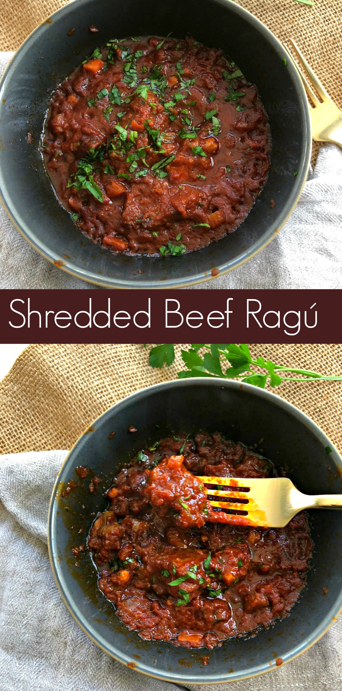 How to Make Slow Cooker Shredded Beef Ragú from Spinach Tiger