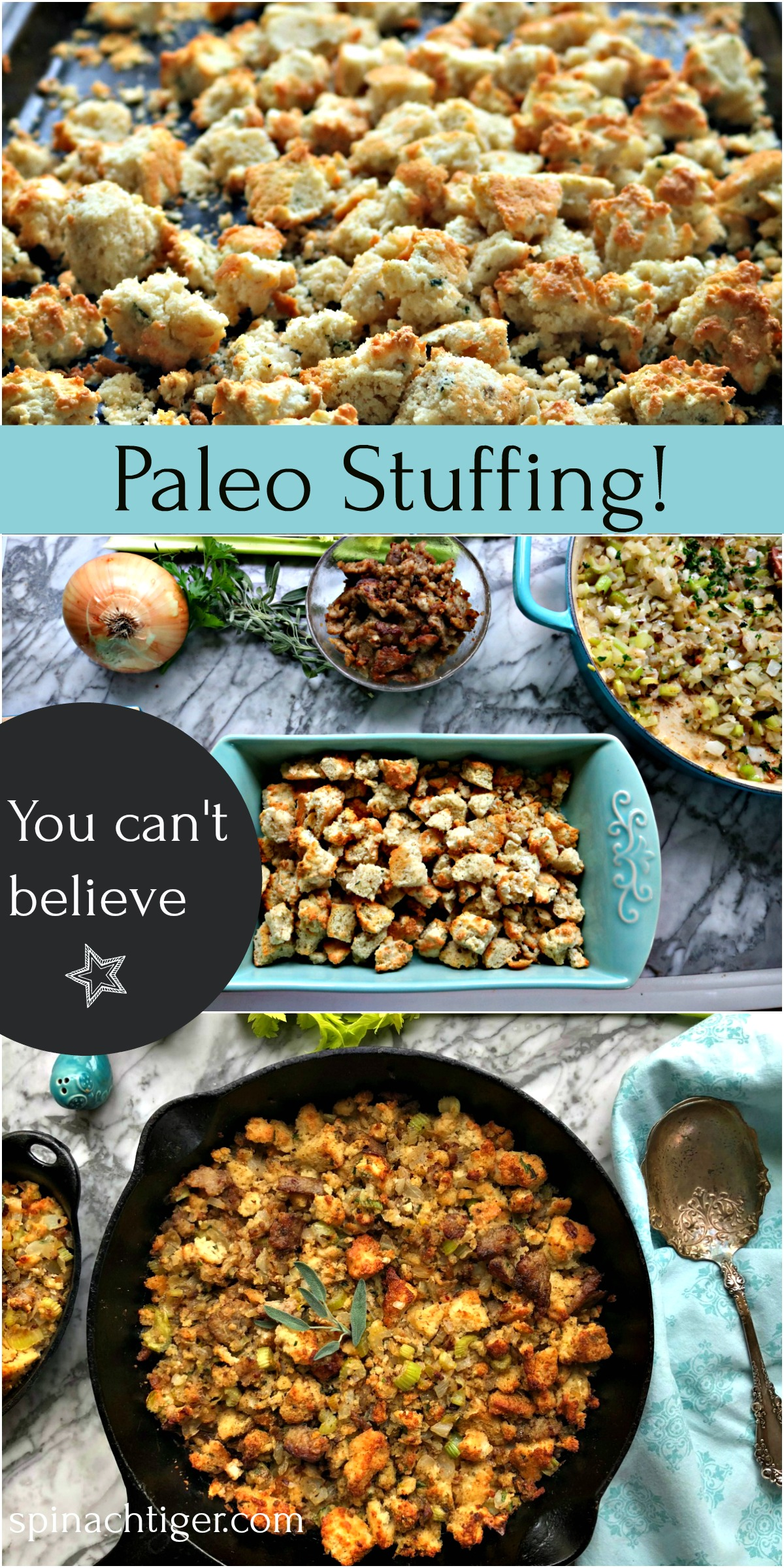 Paleo Grain Free Stuffing from Spinach Tiger