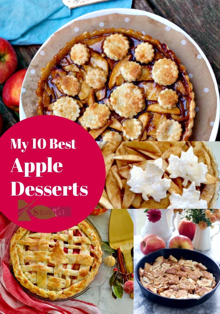 My Best apple desserts with decorative pie crusts from Spinach Tiger