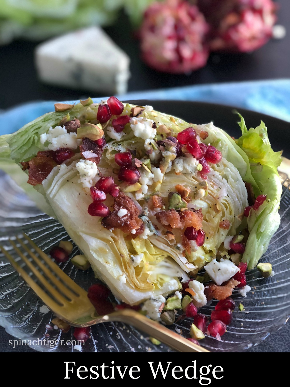 Festive Party Wedge Salad from Spinach Tiger