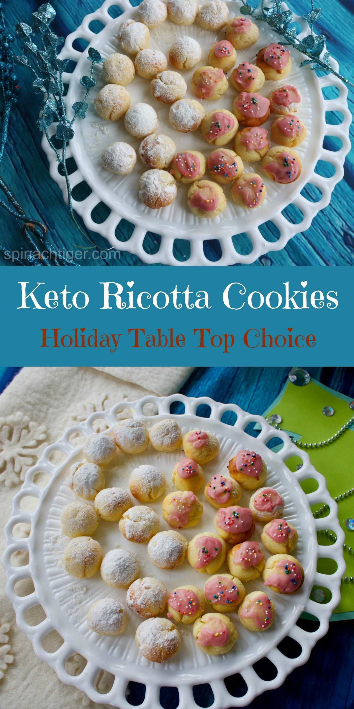 Best Low Carb Coconut Four Ricotta Cookies from Spinach Tiger (Keto, Paleo), Sugar Free Using Swerve