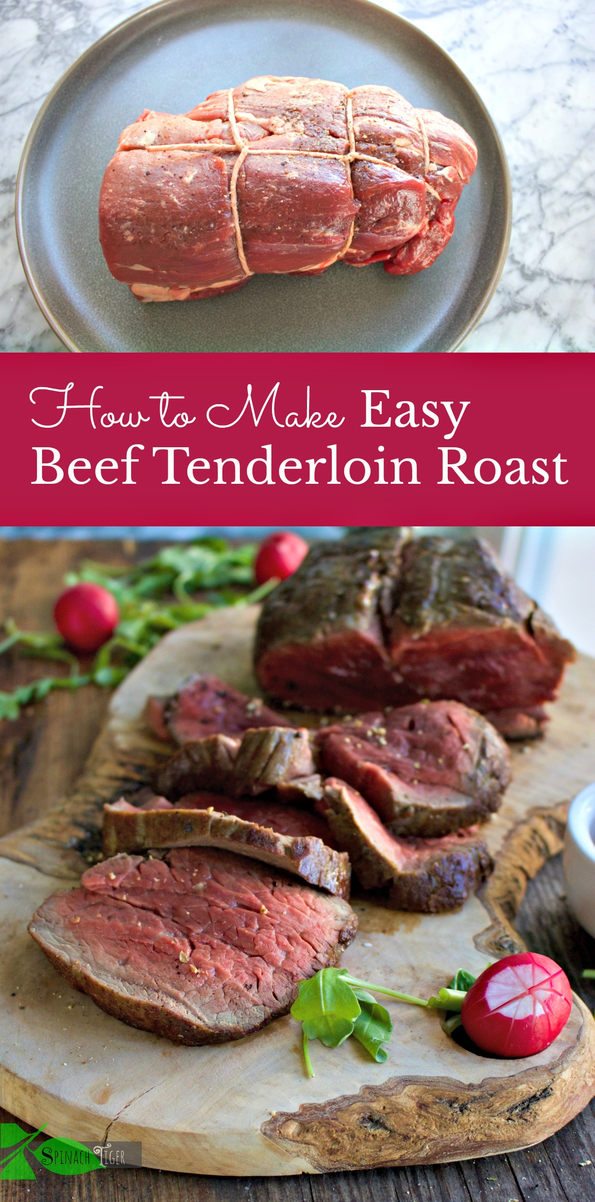 Easy Preparing Beef Tenderloin from Spinach Tiger