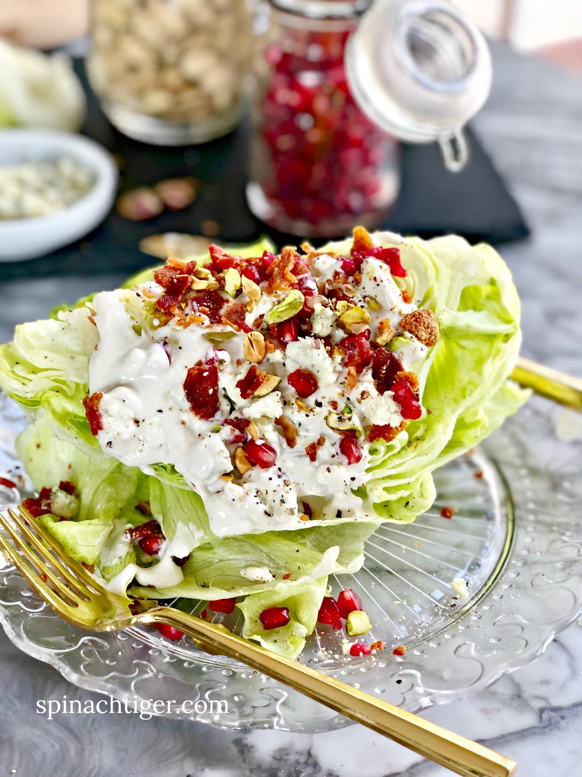 The Perfect Party Wedge Salad from Spinach Tiger